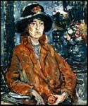 Woman in Brown Coat by  Maurice Brazil Prendergast (Painting ID: CL-4648-KA)