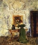 Woman in Green by  William Merritt Chase (Painting ID: ED-1415-KA)