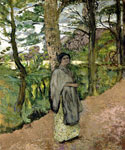Woman in Grey in a Lane by  Edouard Vuillard (Painting ID: ED-1275-KA)