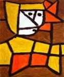 Woman in Peasant Dress by  Paul Klee (Painting ID: AB-0407-KA)