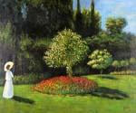 Woman in the Garden 48 by  Claude Monet (Painting ID: MO-1048-KA)
