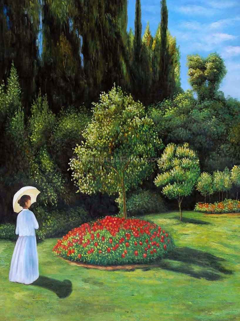 """Woman in the Garden 54"" by  Claude Monet"