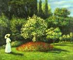 Woman in the Garden 69 by  Claude Monet (Painting ID: MO-1169-KA)