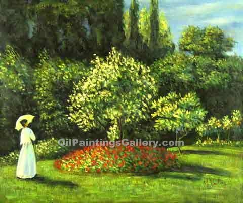 """Woman in the Garden 69"" by  Claude Monet"