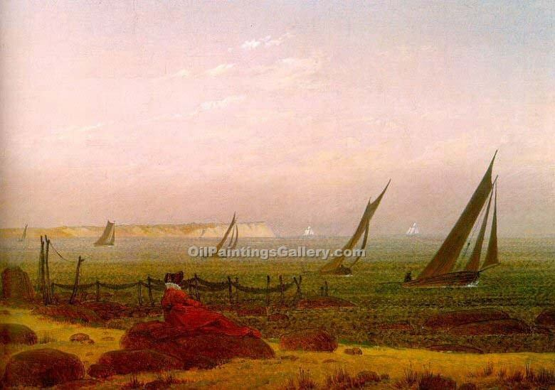 """Woman on the Beach of Rugen"" by  Caspar David Friedrich"