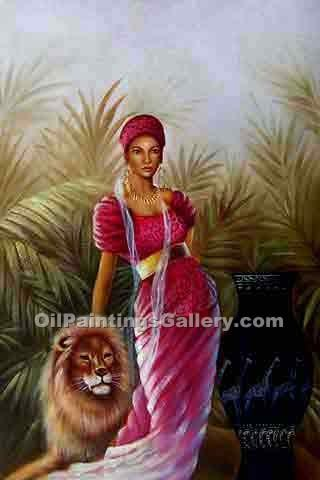 """Woman with Lion"""