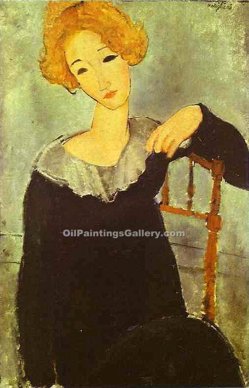 """Woman with Red Hair"" by  Amedeo Modigliani"