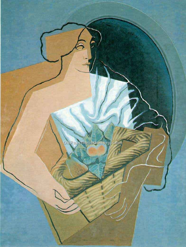 """Woman with a Basket"" by  Juan Gris"