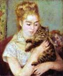 Woman with a Cat by  Pierre Auguste Renoir (Painting ID: CL-4450-KA)