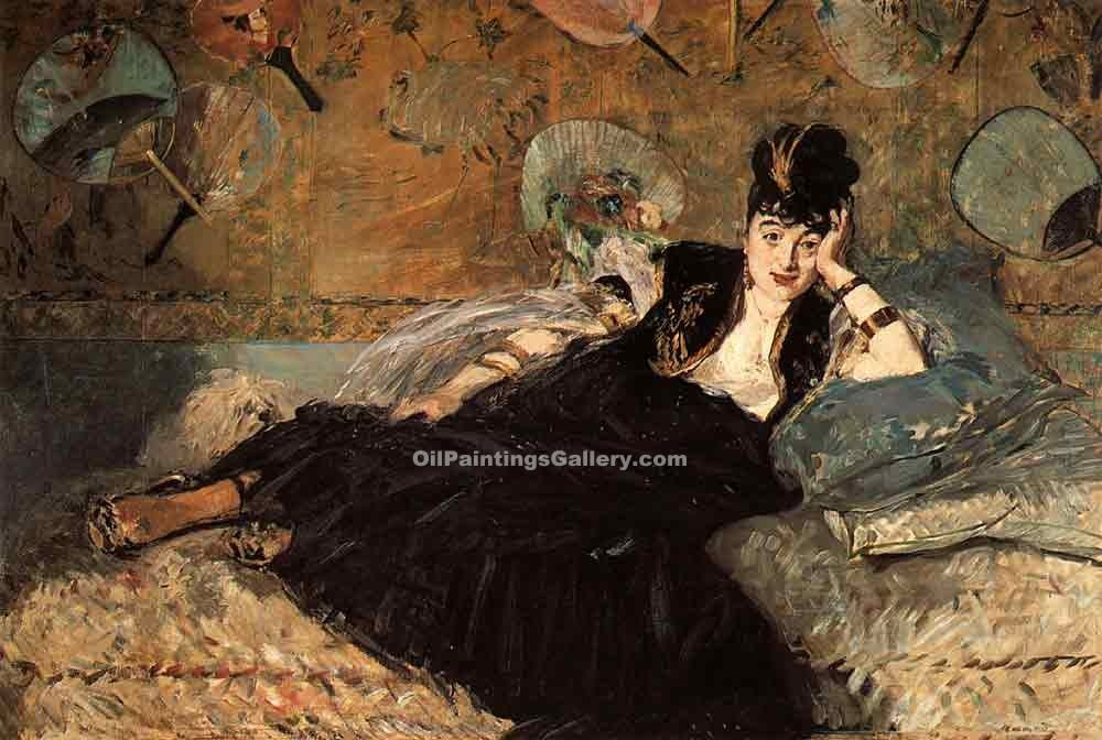 """Woman with a Fan"" by  Edouard Manet"