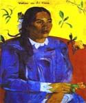 Woman with a Flower by  Paul Gauguin (Painting ID: GA-0324-KA)