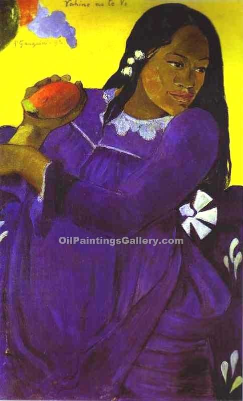 """Woman with a Mango"" by  Paul Gauguin"