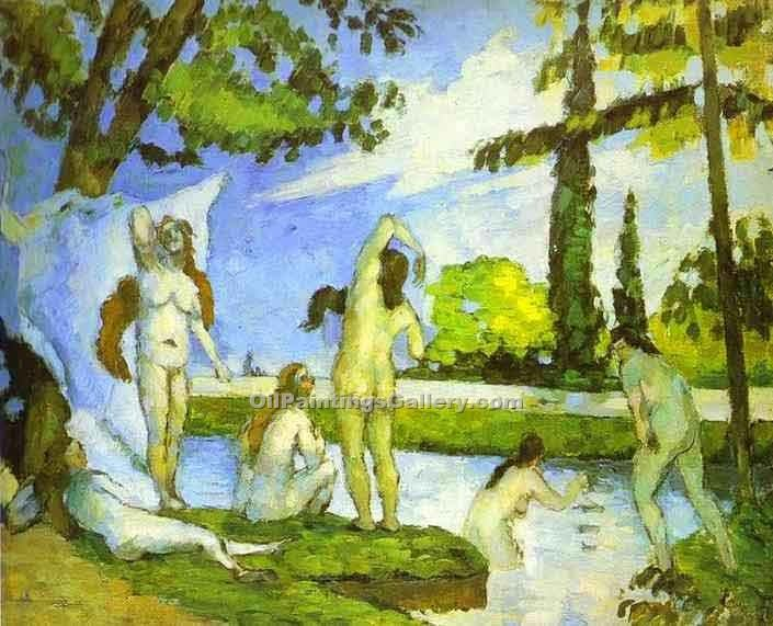 """Women  Bathing"" by  Paul Cezanne"