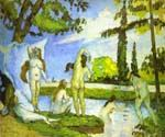 Women  Bathing by  Paul Cezanne (Painting ID: EI-1481-KA)