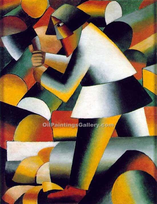"""Woodcutter"" by  Kasimir Malevich"