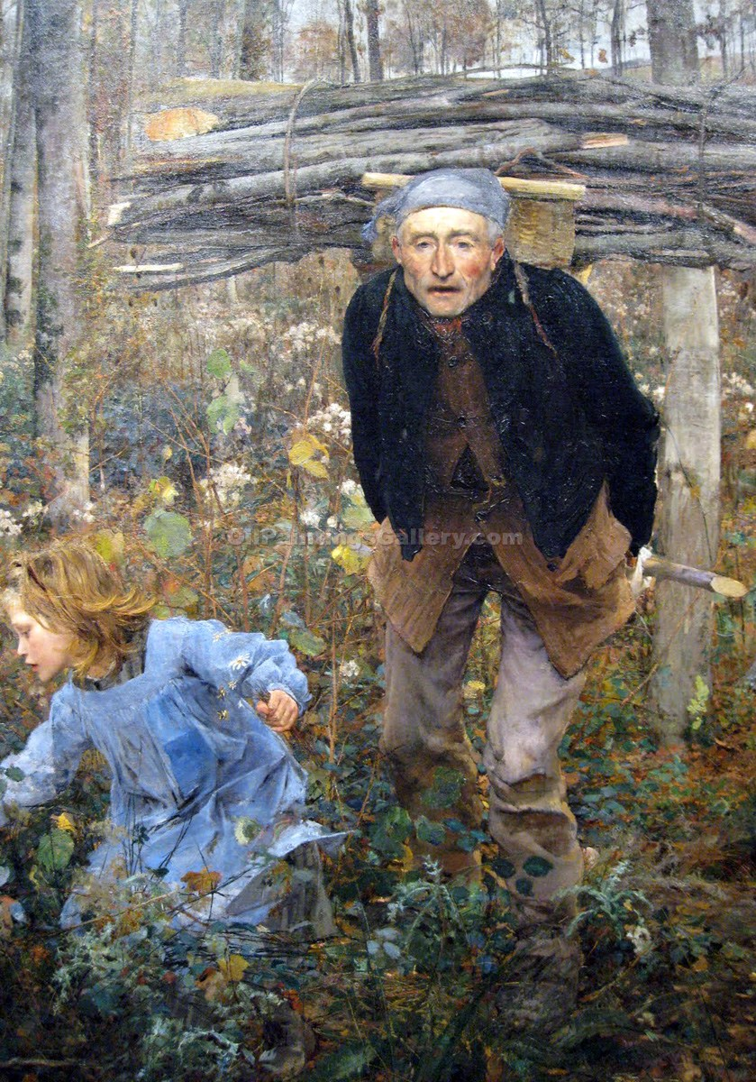 """Woodgatherers"" by  Jules Bastien Lepage"