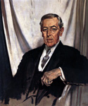 Woodrow Wilson, 28th President, Painted by Sir William Orpen  (Painting ID: CM-0028-KA)