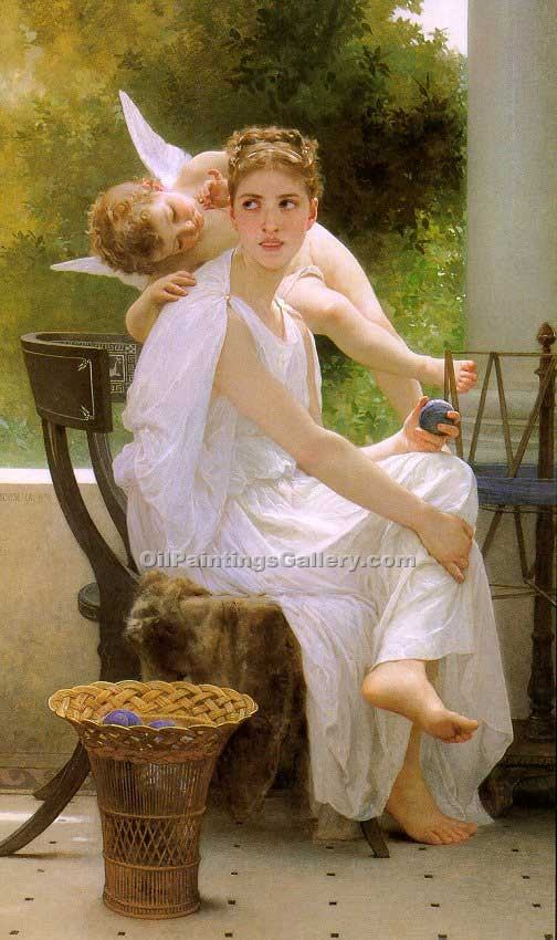 """Work Interrupted"" by  Adolphe Bouguereau"