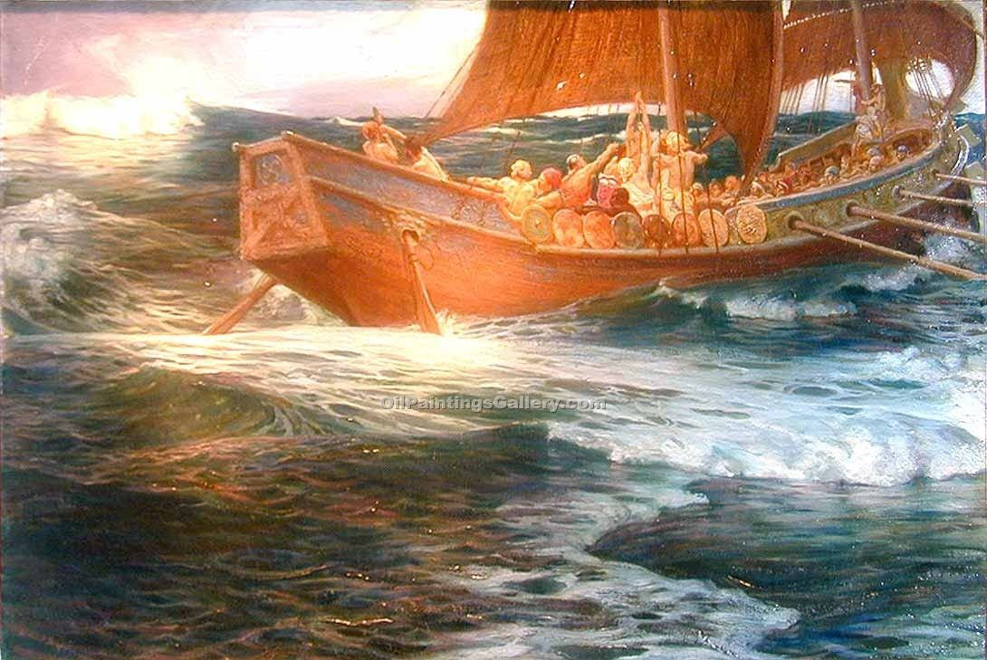 """Wrath of the Sea God"" by  Herbert James Draper"