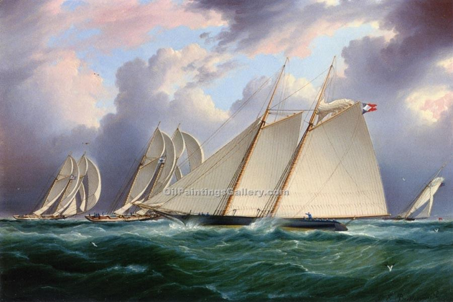 """Yacht Orion"" by  James E Buttersworth"