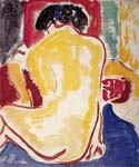 Yellow Bare Back by  Ernst Ludwig Kirchner (Painting ID: EI-1980-KA)