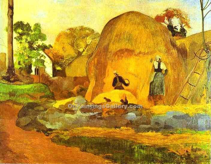 """Yellow Hay Ricks"" by  Paul Gauguin"