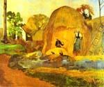 Yellow Hay Ricks by  Paul Gauguin (Painting ID: GA-0230-KA)