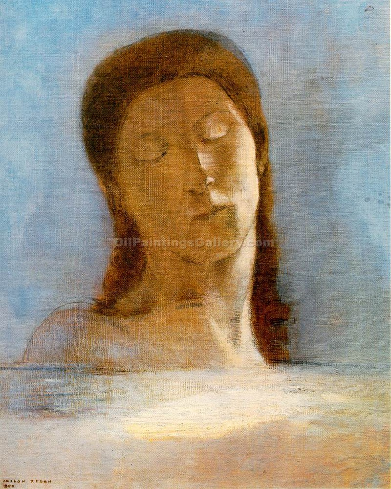 Yeux Cclos by Redon Odilon | Online Gallery - Oil Paintings Gallery