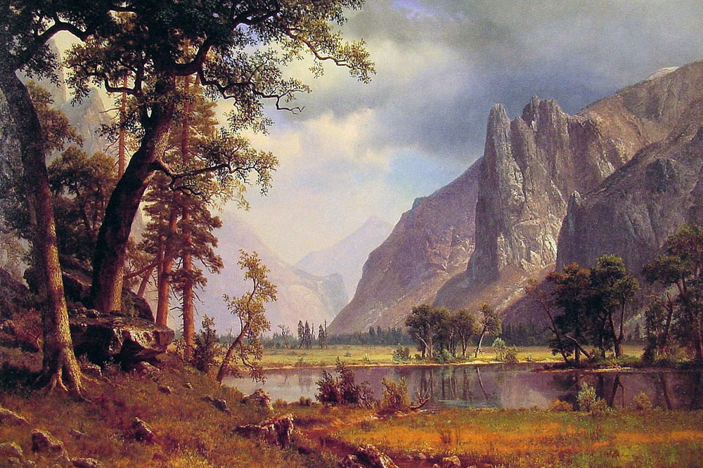 """Yosemite Valley"" by  Albert Bierstadt"