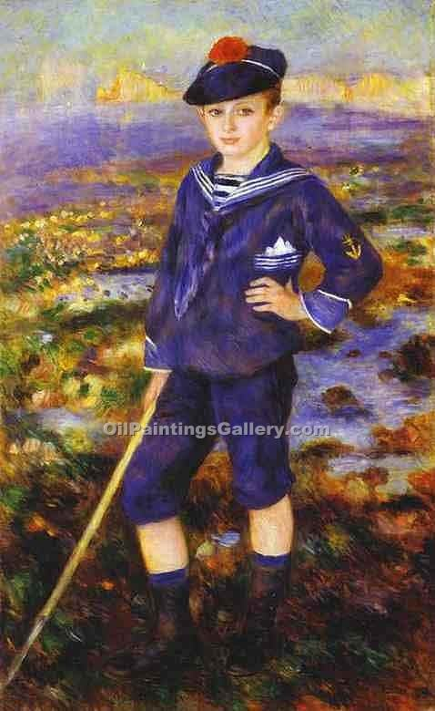 """Young Boy on the Beach of Yport"" by  Pierre Auguste Renoir"