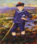 Young Boy on the Beach of Yport by  Pierre Auguste Renoir (Painting ID: CL-4441-KA)