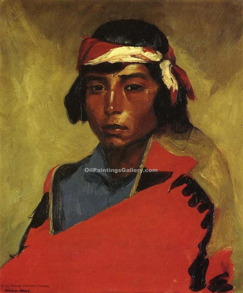 """Young Buck of the Tesuque Pueblo"" by  Robert Henri"