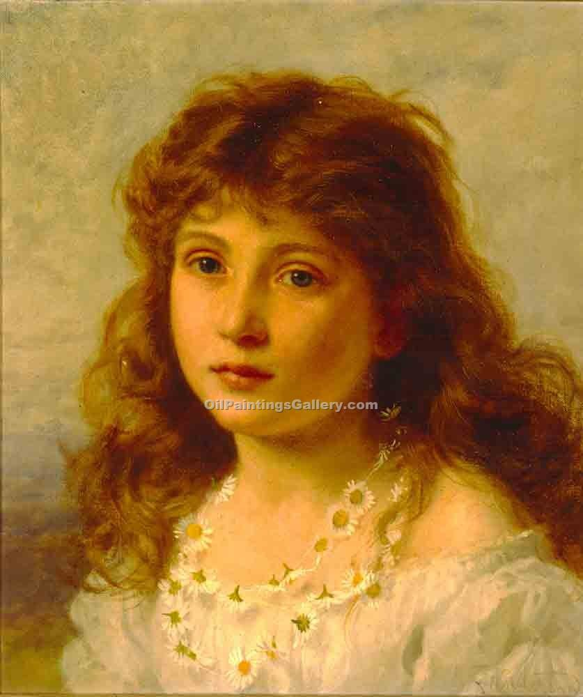 Young GirL 04 by Sophie GengembreAnderson | Art Paintings For Sale - Oil Paintings Gallery