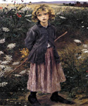 Young Girl 80 by  Jules Bastien Lepage (Painting ID: ED-0280-KA)