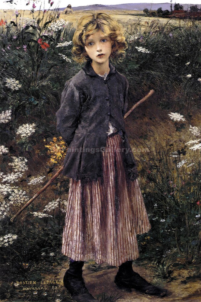 """Young Girl 80"" by  Jules Bastien Lepage"