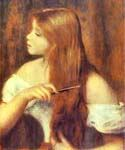 Young Girl Combing Her Hair by  Pierre Auguste Renoir (Painting ID: CL-4454-KA)