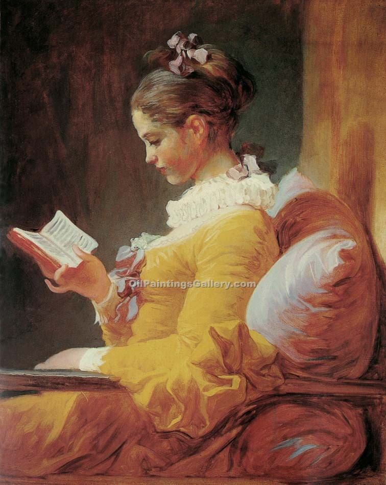 """Young Girl Reading"" by  Jean Honore Fragonard"