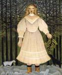 Young Girl in Pink by  Henri Rousseau (Painting ID: RO-0150-KA)