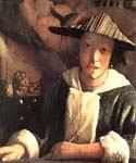 Young Girl with a Flute by  Jan Vermeer (Painting ID: CM-0966-KA)