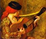Young Spanish Woman with a Guitar by  Pierre Auguste Renoir (Painting ID: CL-4430-KA)