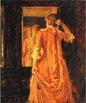 Young Woman Before a Mirror by  William Merritt Chase (Painting ID: ED-1402-KA)