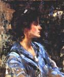 Young Woman In Blue by  James Jebusa Shannon (Painting ID: EI-0687-KA)