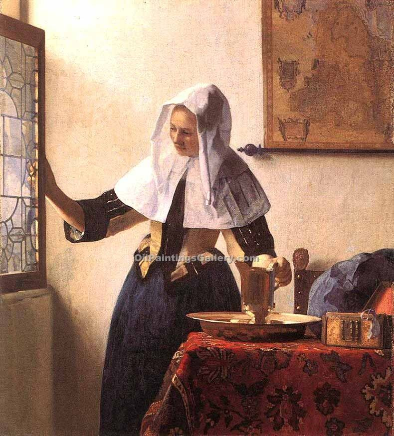 """Young Woman with a Water Jug"" by  Jan Vermeer"