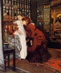 Young Women Looking at Japanese Objects 61 by  James Tissot (Painting ID: CL-4261-KA)