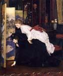 Young Women Looking at Japanese Objects 62 by  James Tissot (Painting ID: CL-4262-KA)
