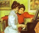 Yvonne and Christine Playing the Piano by  Pierre Auguste Renoir (Painting ID: CL-4433-KA)