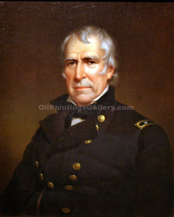 Buy Original Artworks Online | Paintings of Famous ArtistsPortrait & Landscape - Zachary Taylor, 12th President, Painted by James Reid Lambdin