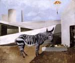 Zebra and Parachute by  Christopher Wood (Painting ID: AN-2062-KA)