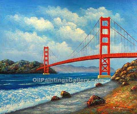 Golden-Gate-Bridge Paintings and Art at Artist Rising