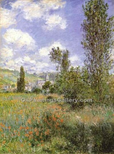 """lle Saint Martin Vetheuil"" by  Claude Monet"